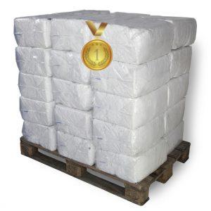 Vita luddria trasor i säck 180 kg på pall