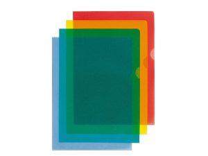 transparenta aktmappar i olika färger - plastmappar
