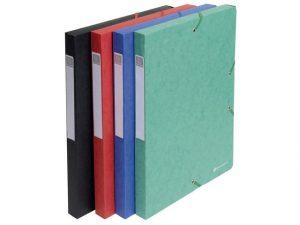 boxmappar i papp i olika färger