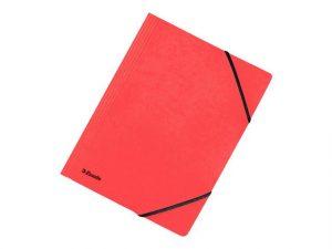 röd mapp med gummisnodd