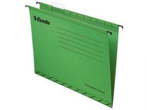 grön hängmapp av papp