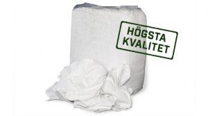 vita luddfria tortrasor av högsta kvalitet förpackade i säck